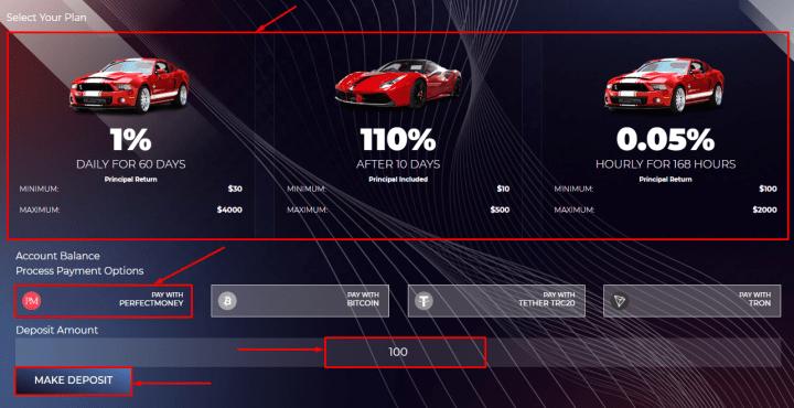 Создание депозита в проекте Zoom Cars