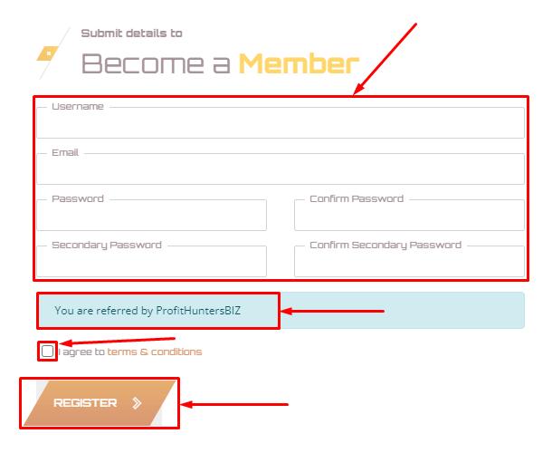 Регистрация в проекте Gasilo